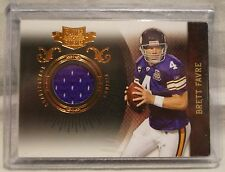 2010 Panini #53 Plates & Patches, Vikings QB, Brett Favre Card, 265/299