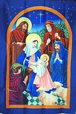 "WINTER CHRISTMAS GARDEN MINI FLAG ""NATIVITY NIGHT"""