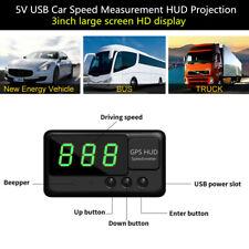 5V USB Auto Car GPS Head Up Display Speed Measurement HUD Projection Over Alarm