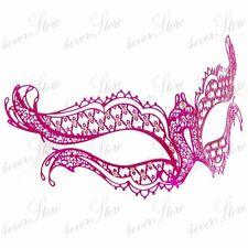 Womens Vampire Diaries Inspired Laser Cut Venetian Metal Masquerade Mask [Pink]