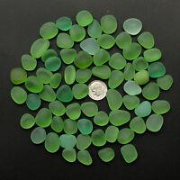 sea beach glass 20 big pcs green lime lots bulk 16-20mm jewelry use