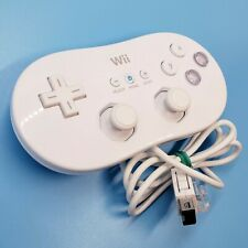 Official Nintendo Wii Classic Pro Controller White OEM RVL-005 TESTED Good Shape