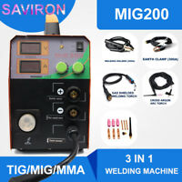 MIG Welder TIG MMA Welding Machine MAG Gassless No Gas Portable Inverter 200A