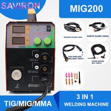 MIG Welder TIG MMA Welding Machine MAG Gassless No Gas Portable Inverter 200A