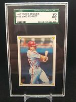 1987 Topps Sticker #116 Mike Schmidt Philadelphia Phillies HOF SGC 96 MINT 9
