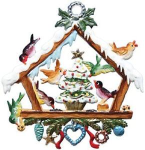 "WILHELM SCHWEIZER GERMAN ZINNFIGUREN Christmas With The Birds (2.5"" x 2.5"" High)"