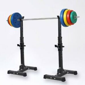 Pair Adjustable Gym Squat Rack Weight Stands Heavy Duty FREE SHIPPING