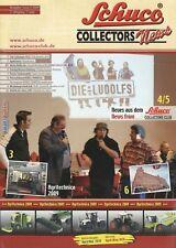 Schuco Collectors News 2009 2/09 Prospekt D + GB Modellautos brochure model cars