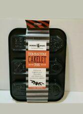 Nordic Ware Halloween Black Steel Tombstone Mini Cake Pan NWT