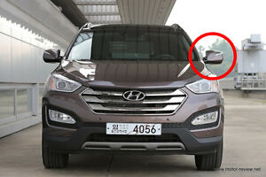 LH (Driver`s Seat) LED Auto Folding Side Mirror For 2013+ Hyundai Santa Fe Sport