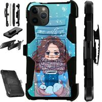For iPhone 11/X/8/7/6 PRO MAX PLUS Holster Phone Case COFFEE GIRL LuxGuard