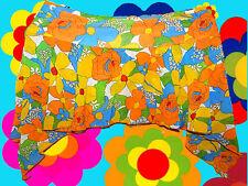R2 Prilblumen Flower-Power Hippie 60er 70er Jahre Mini Rock Woodstock orange