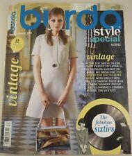 Rare! burda style special vintage magazine 2015 dresses patterns English Uncut