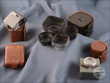 Assorted Vintage Lens Hoods in Leather Cases + a Bulb Flash Unit - 9528