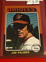 🔥 1975 Topps MINI Baseball Card Set #335 🔥 Baltimore Orioles 🔥 JIM PALMER