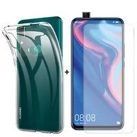 PACK FUNDA TRANSPARENTE+ Protector cristal vidrio templado Huawei P Smart Z