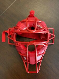 All-Star Baseball Catchers Protective Face Mask FM 11LTX Red Great Condition
