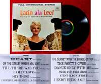 LP Peggy Lee: Latin ala Lee! (Capitol ST 1290) US