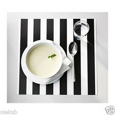 Ikea Ljuda Place Mat Stripe Black White Kitchen Dining Set Of 4