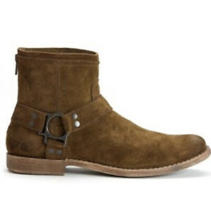 Calvin Klein Jeans Palmer Suede Harness Boot Brown Mens 10.5
