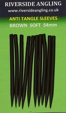 Anti Tangle Sleeves 54mm Brown x10 Carp Fishing Tackle Terminal Rig End.
