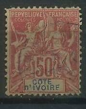 French Colonies, Cote d'Ivoire, Ivory Coast 1892 Michel 11 used