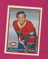 RARE 1992-93 OPC # 33 CANADIENS RALPH BACKSTROM  FANFEST LIMITED /5000 CARD