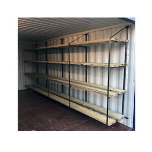 Shipping Container Shelving Bracket - 4 Tier