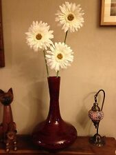 Red Bamboo Mercury Vase, Extra Large. Tilnar Art Fair Trade,