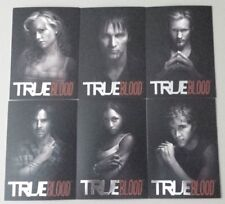 True Blood Premiere 6 card B&W insert chase set lot
