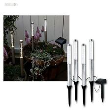 LED Solare Lampada da giardino bianco caldo 4 set bar barra vetro acrilico