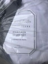 Pottery Barn Monique Lhuillier Margaux Embroidered Organic Cotton Sheet Set Full