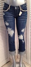 $359 A7 Capri Jeans  - 29 -   Fully embellished with SWAROVSKI ELEMENTS !!!