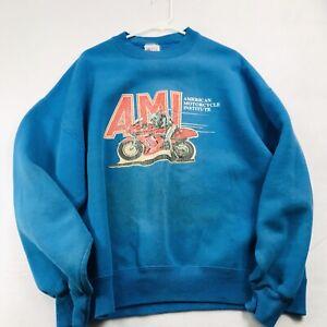 Vintage  AMI American Motorcycle Daytona Institute Sweatshirt Single Stitch XxL