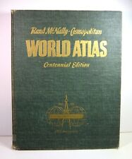 1956 RAND-MCNALLY COSMOPOLITAN WORLD ATLAS Centennial Edition 100th Anniversary