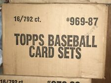 1987, 1988, 1989 topps baseball cards complete set — case of 16 sets