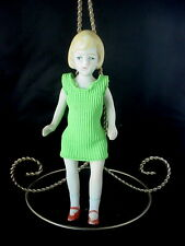 """7"""" All Bisque Female Sister doll  Antique made in Japan Jointed shoulder & hips"""