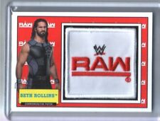 WWE Seth Rollins 2017 Topps Heritage Raw Com Patch Relic Card SN 2 of 299