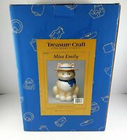 Treasure Craft Sculpted Cookie Jar - Miss Emily The Cat - New