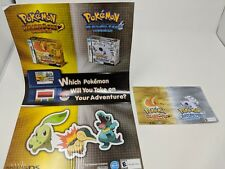 Pokemon heart gold soul silver promotional poster and shelf talker