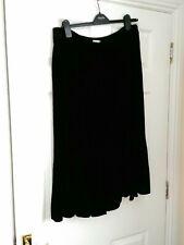 East Black Velvet Skirt, Size 16