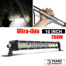 10inch Single Row Slim LED Combo Beam Light Bar OFFROAD DRIVING FORD SUV ATV 11""