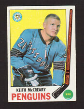 Keith McCreary Pittsburgh Penguins 1969-70 Topps Hockey Card #114 EX/MT- NM