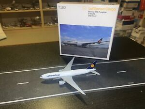 1:500 Herpa Wings Lufthansa Cargo B777F D-ALFD Airlines Diecast Model 524292