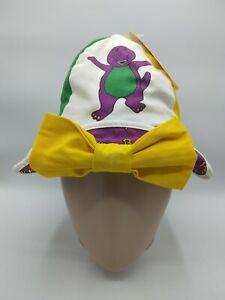 Vintage 1994 Lyons Group Barney The Purple Dinosaur Sailor Bow Cap Hat Youth NWT