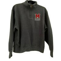 Jansport Miami University 1/4 pullover sweatshirt sz M Medium