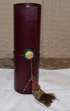 "LEATHER WINE BOTTLE GIFT CARRIER WITH TASSEL ""CHEERS"" FREE SHIPPING"