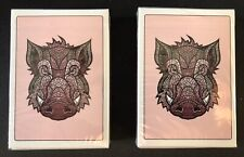 Pink Boar x2 Playing Cards