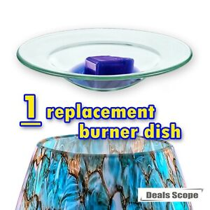 """(AAA Glass Grade) 4.5"""" Scentsy Replacement Oil Wax Warmer Dish Plate Tray Glass"""