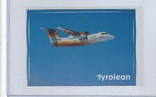 Tyrolean Airways issued Dash 8//100  cont/l postcard